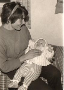 1973 mit Mama
