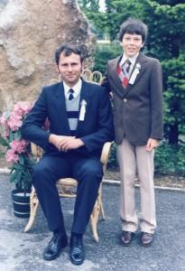 1986 Firmung mit Onkel Herbert