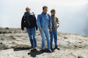 1995 Studienjahr in Rom (mit Gregor und Reinhard am Vesuv)