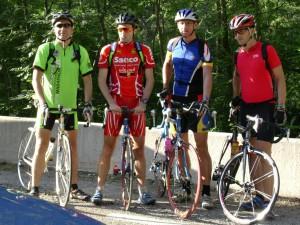 2004 Tour de France(Alpe d´Huez) mit Harald, Walter und Christian