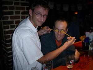 2008 in Frankreich beim Feiern mit Walter