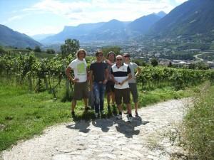 2010 Meran Ausflug mit Walter, Christian, Harald und Stefan